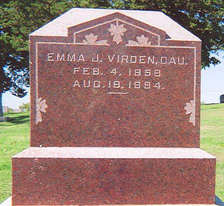 SMITH VIRDEN, EMMA - Henry County, Iowa   EMMA SMITH VIRDEN