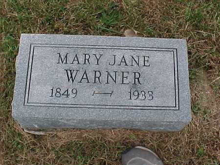 WARNER, MARY JANE - Henry County, Iowa | MARY JANE WARNER