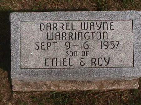 WARRINGTON, DARREL WAYNE - Henry County, Iowa | DARREL WAYNE WARRINGTON