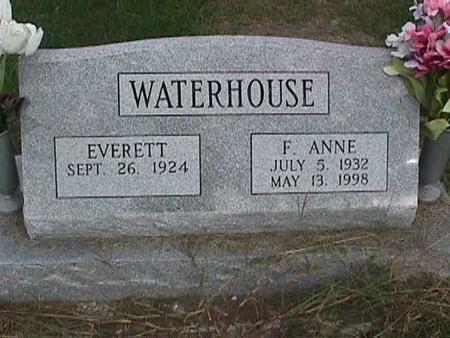 WATERHOUSE, F. ANNE - Henry County, Iowa | F. ANNE WATERHOUSE