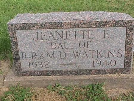 WATKINS, JEANETTE E - Henry County, Iowa   JEANETTE E WATKINS
