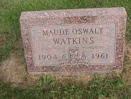 OSWALT WATKINS, MAUDE - Henry County, Iowa | MAUDE OSWALT WATKINS