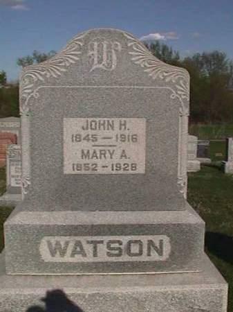 WATSON, JOHN H. - Henry County, Iowa | JOHN H. WATSON