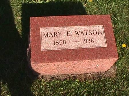 WATSON, MARY E. - Henry County, Iowa   MARY E. WATSON