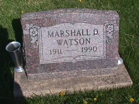 WATSON, MARSHALL D. - Henry County, Iowa   MARSHALL D. WATSON