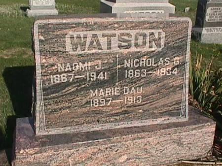 WATSON, NICHOLAS G. - Henry County, Iowa | NICHOLAS G. WATSON