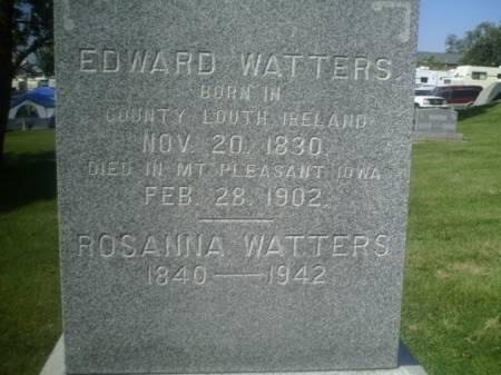 WATTERS, EDWARD - Henry County, Iowa   EDWARD WATTERS