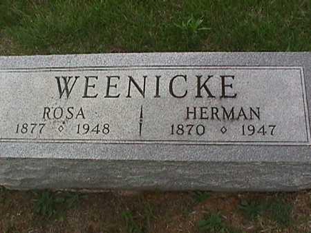 WEENICKE, HERMAN - Henry County, Iowa   HERMAN WEENICKE