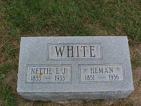 WHITE, NETTIE E.J. - Henry County, Iowa | NETTIE E.J. WHITE