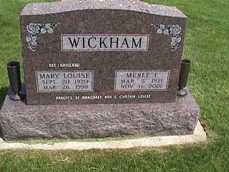 WICKHAM, MERLE - Henry County, Iowa | MERLE WICKHAM