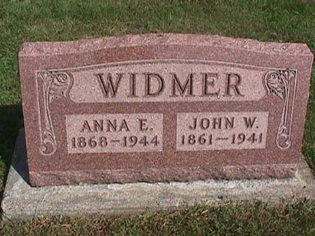 WIDMER, JOHN W. - Henry County, Iowa | JOHN W. WIDMER