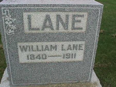 LANE, WILLIAM - Henry County, Iowa   WILLIAM LANE