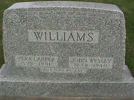 WILLIAMS, JOHN WESLEY - Henry County, Iowa | JOHN WESLEY WILLIAMS