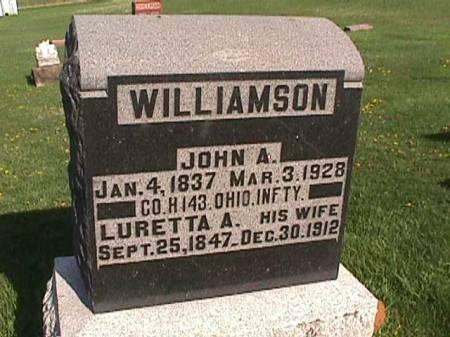 WILLIAMSON, LURETTA A. - Henry County, Iowa | LURETTA A. WILLIAMSON