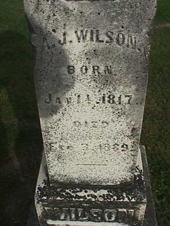 WILSON, A. J. - Henry County, Iowa   A. J. WILSON