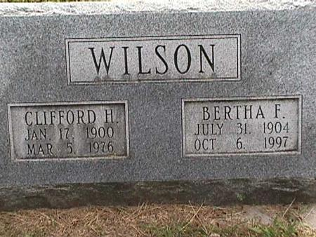 WILSON, CLIFFORD H - Henry County, Iowa | CLIFFORD H WILSON