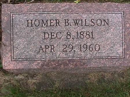WILSON, HOMER B. - Henry County, Iowa   HOMER B. WILSON
