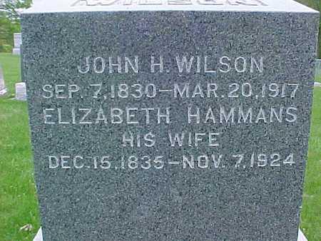 HAMMANS WILSON, ELIZABETH - Henry County, Iowa | ELIZABETH HAMMANS WILSON
