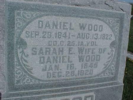 WOOD, SARAH E. - Henry County, Iowa   SARAH E. WOOD