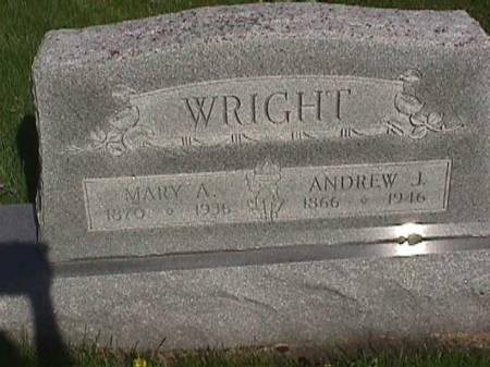 WRIGHT, MARY A. - Henry County, Iowa   MARY A. WRIGHT