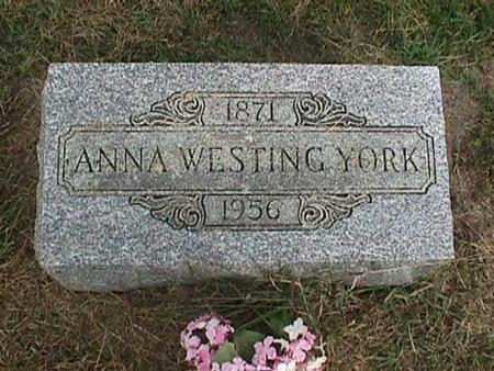YORK, ANNA - Henry County, Iowa   ANNA YORK