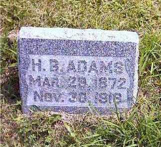 ADAMS, HARRY B. - Howard County, Iowa | HARRY B. ADAMS