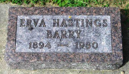 HASTINGS BARRY, ERVA - Howard County, Iowa   ERVA HASTINGS BARRY