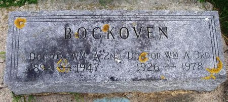 BOCKOVEN, WILLIAM A. 3RD DOCTOR - Howard County, Iowa | WILLIAM A. 3RD DOCTOR BOCKOVEN
