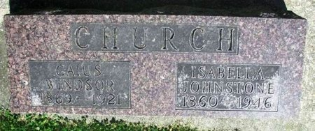 CHURCH, ISABELLA JOHNSTONE - Howard County, Iowa | ISABELLA JOHNSTONE CHURCH
