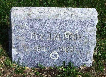 COOK, J. M. REV. - Howard County, Iowa | J. M. REV. COOK
