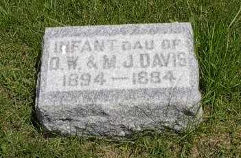 DAVIS, INFANT DAUGHTER - Howard County, Iowa | INFANT DAUGHTER DAVIS