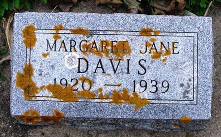 DAVIS, MARGARET JANE - Howard County, Iowa | MARGARET JANE DAVIS