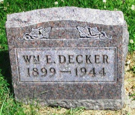 DECKER, WILLIAM E - Howard County, Iowa | WILLIAM E DECKER