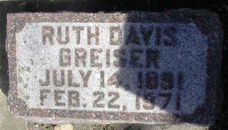 DAVIS GREISER, RUTH - Howard County, Iowa | RUTH DAVIS GREISER