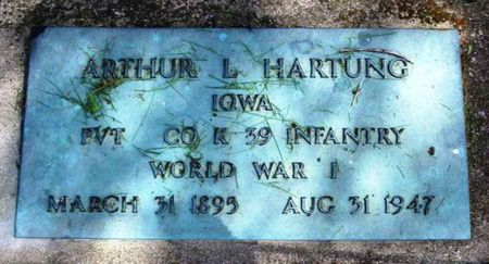 HARTUNG, ARTHUR L. - Howard County, Iowa | ARTHUR L. HARTUNG