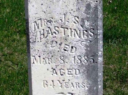 HASTINGS, J. S. MRS. - Howard County, Iowa | J. S. MRS. HASTINGS