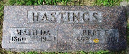 HASTINGS, MATHILDA - Howard County, Iowa | MATHILDA HASTINGS