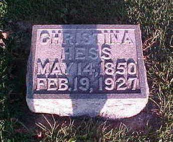 HESS, CHRISTINA - Howard County, Iowa | CHRISTINA HESS