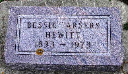 ARSERS HEWITT, BESSIE - Howard County, Iowa | BESSIE ARSERS HEWITT