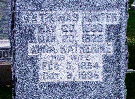 HUNTER, ANNA KATHERINE - Howard County, Iowa | ANNA KATHERINE HUNTER