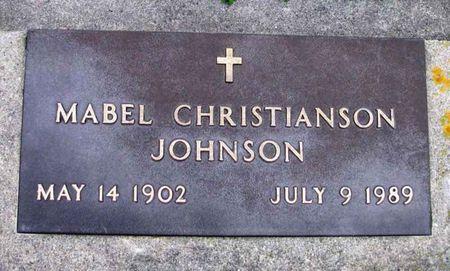 CHRISTIANSON JOHNSON, MABEL - Howard County, Iowa   MABEL CHRISTIANSON JOHNSON