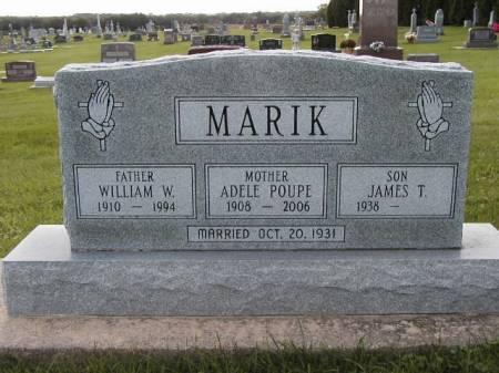 POUPE MARIK, ADELE - Howard County, Iowa   ADELE POUPE MARIK