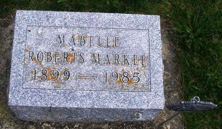 ROBERTS MARKEE, MABELLE - Howard County, Iowa   MABELLE ROBERTS MARKEE