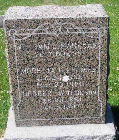MARKHAM, HERBERT W - Howard County, Iowa | HERBERT W MARKHAM