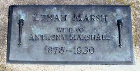 MARSH MARSHALL, LENAH - Howard County, Iowa   LENAH MARSH MARSHALL