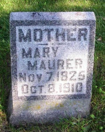 MAURER, MARY - Howard County, Iowa   MARY MAURER