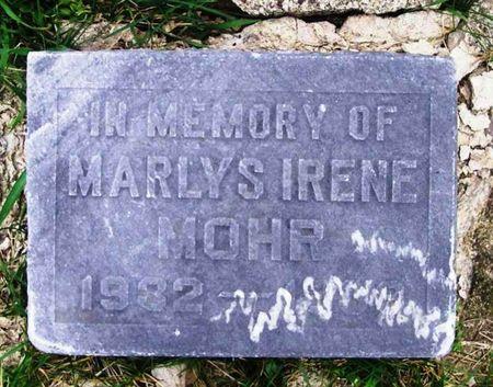 MOHR, MARLYS IRENE - Howard County, Iowa   MARLYS IRENE MOHR