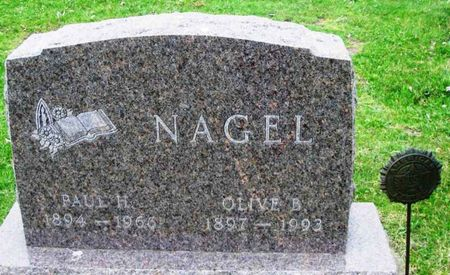 NAGEL, OLIVE B. - Howard County, Iowa   OLIVE B. NAGEL