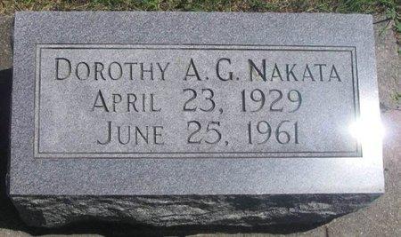 NAKATA, DOROTHY A.G. - Howard County, Iowa   DOROTHY A.G. NAKATA