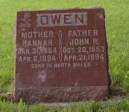 OWEN, JOHN R. - Howard County, Iowa   JOHN R. OWEN